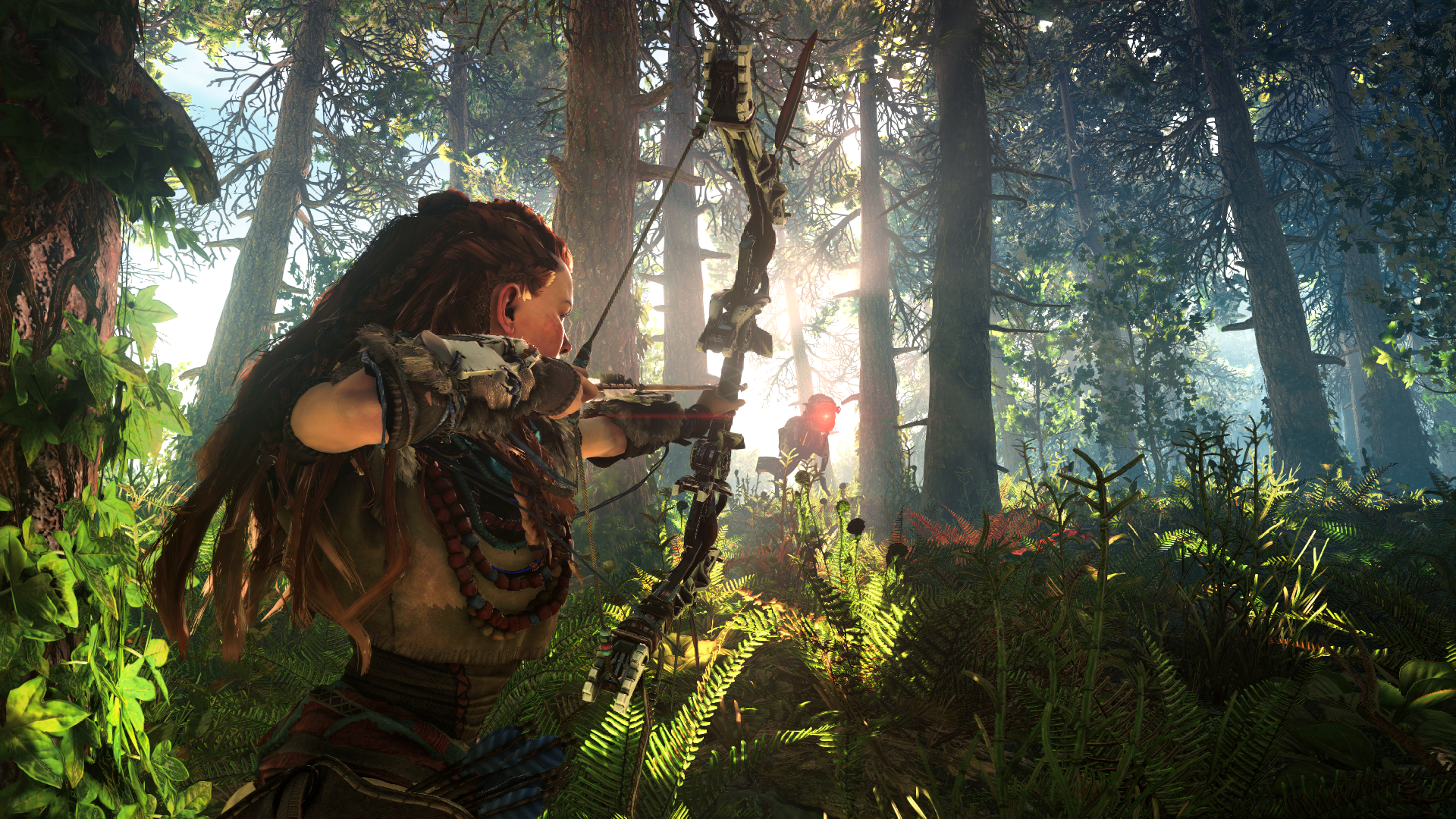 Aloy hunting (Horizon - Zero Dawn)